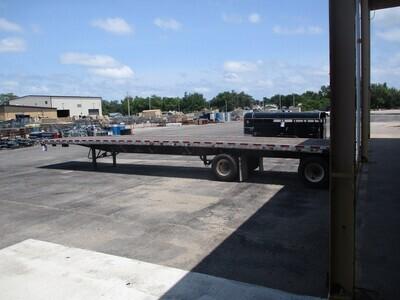 "2008 Wilson 48' x 96"" Aluminum/steel combo spread axle air-ride trailer"