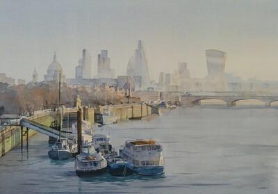 Downstream From Waterloo Bridge