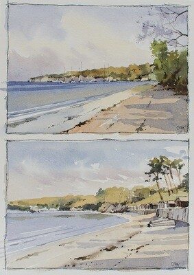 Sketching South Beach, Studland