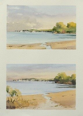 Sketching Middle Beach, Studland