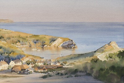 A Warm Evening at Lulworth Cove
