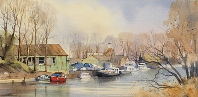 Winter Moorings, Platt's Eyot