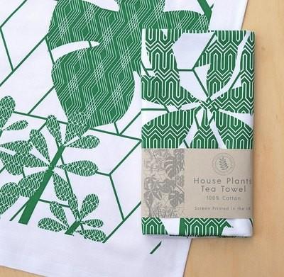 House Plants - Tea towel