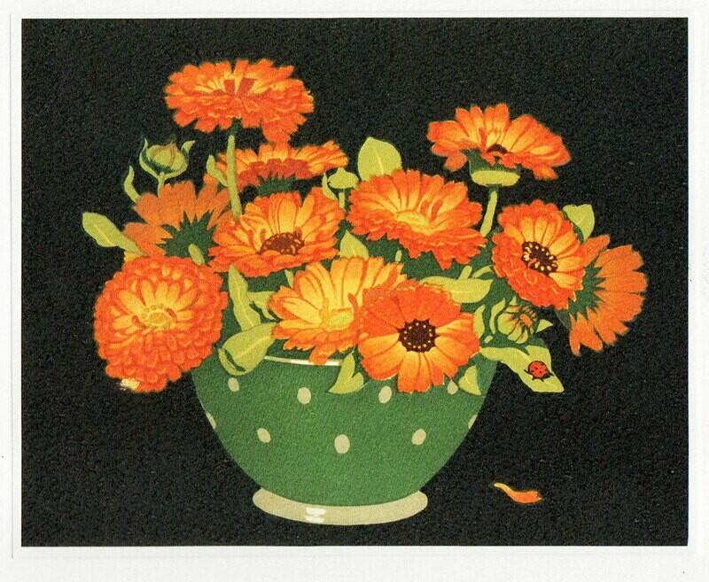 Marigolds - Printmakers  Art Card