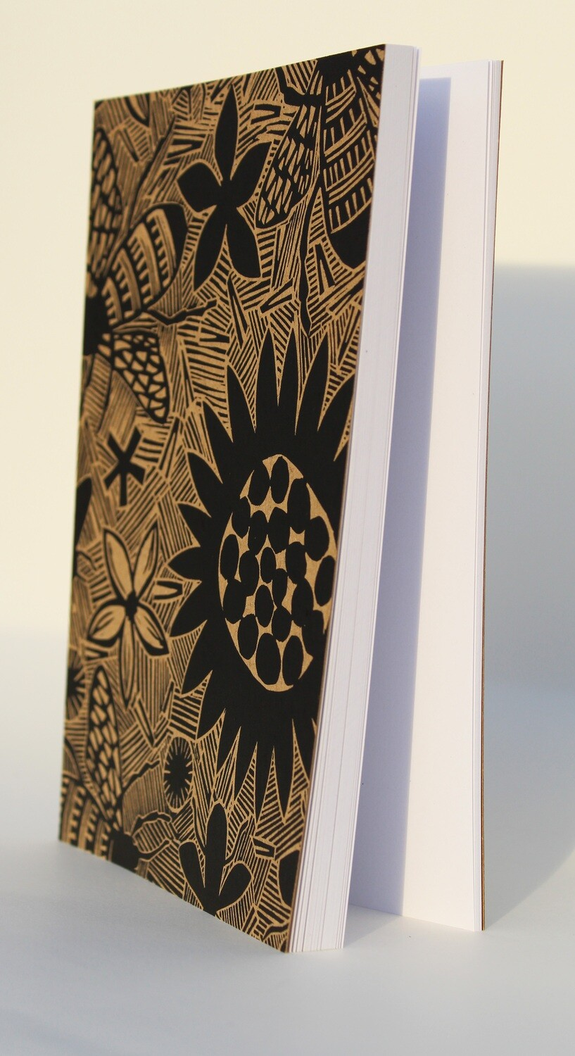 Hand-printed journal -Bees.