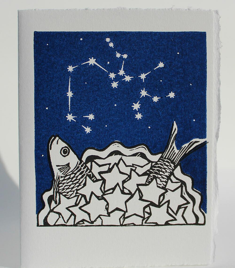 Sagittarius Stargazey- Hand-printed Card