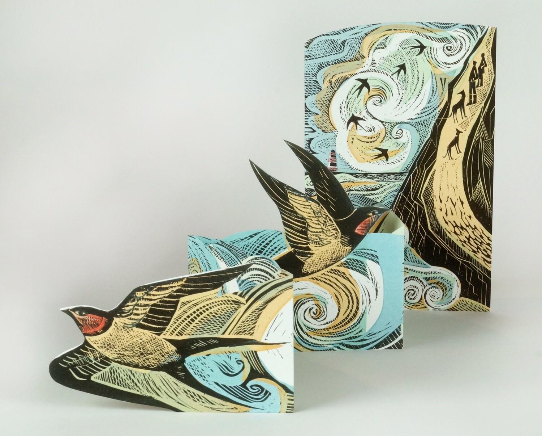 Cornish Swallows Concertina Card