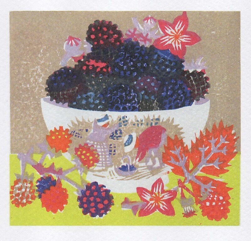 Blackberry harvest - Card
