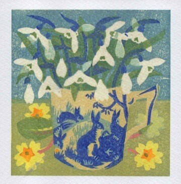 Snowdrops & Primroses -Card