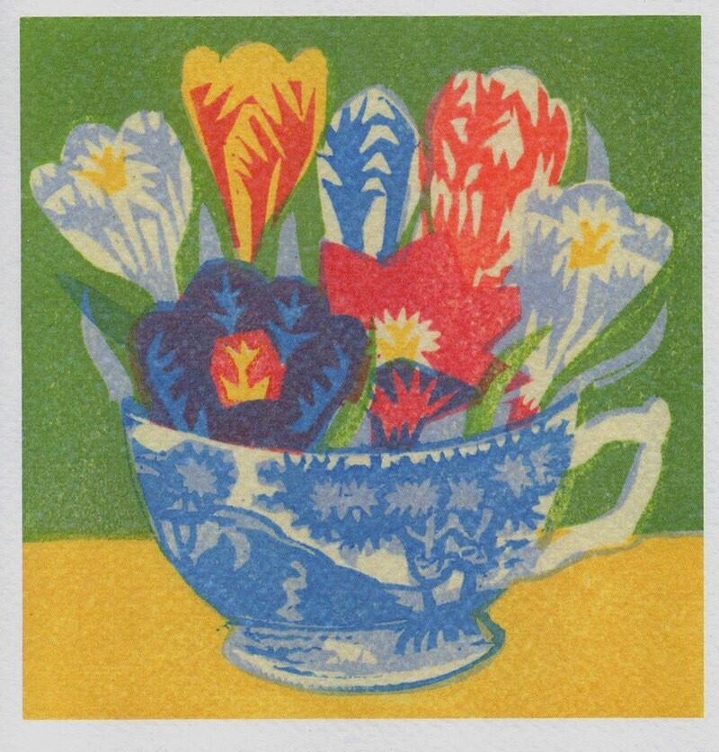Crocus Teacup - Card
