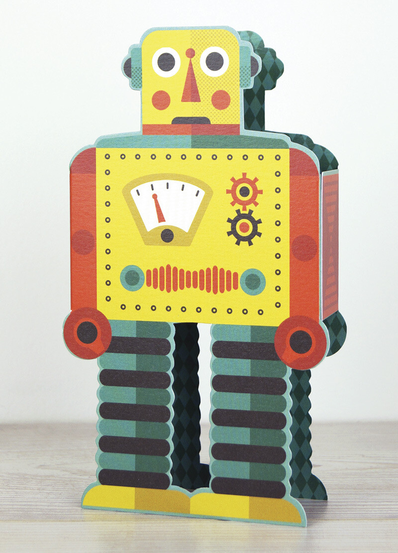 Robot  Free-standing Card