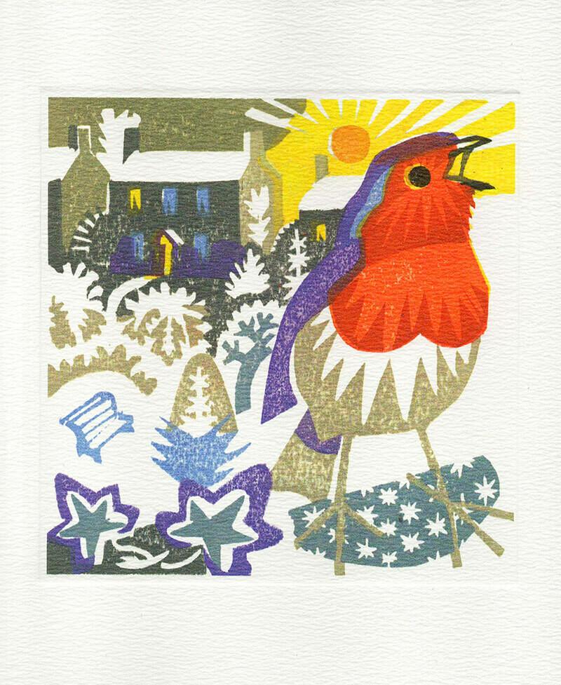 Winter Sunrise  -  Printmakers card
