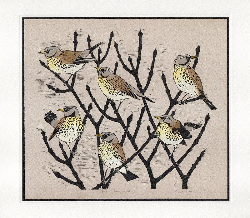 Friends from the North- Printmakers Card