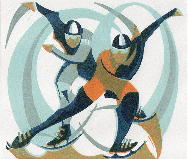 Skaters - Printmakers Card