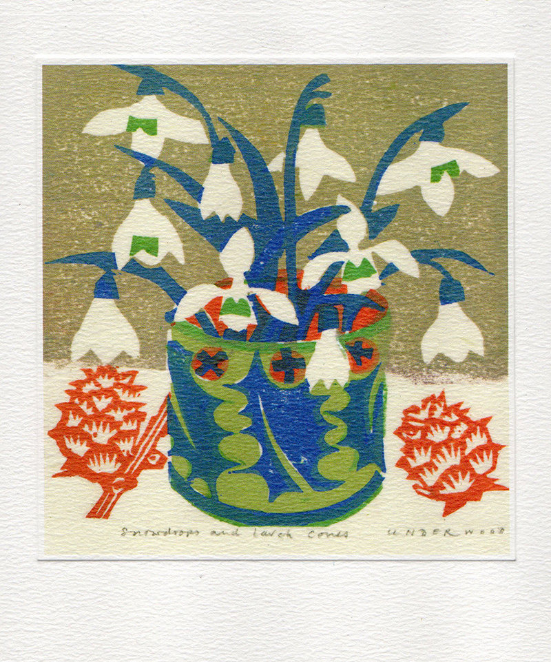 Snowdrops - Winter Printmakers Card