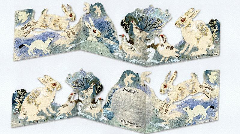 Winter Wildlife  3D Die-cut  Card
