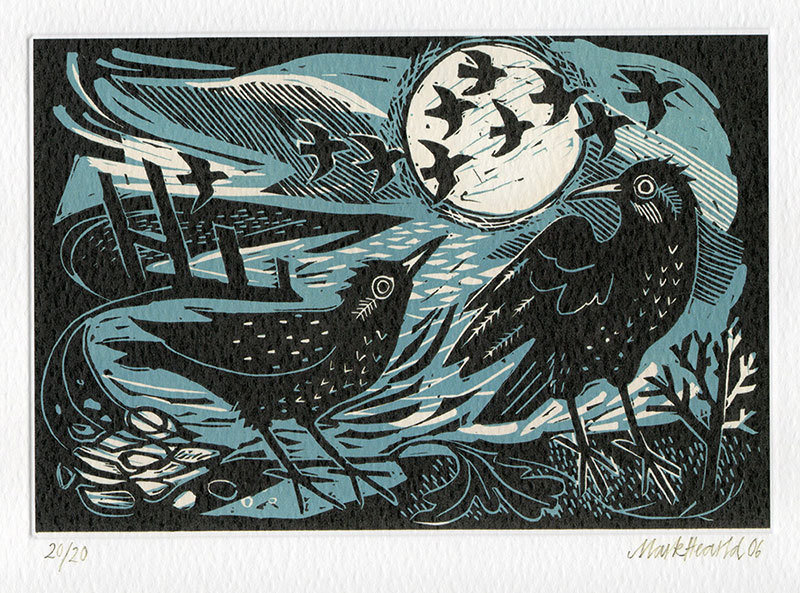 Starlings on the Shore - Art Card