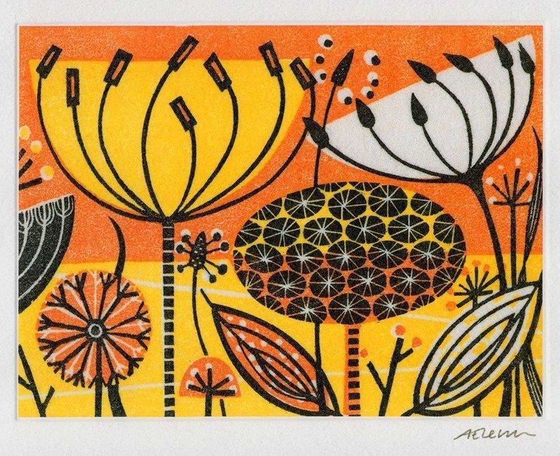 Clifftop III - Printmakers Art Card