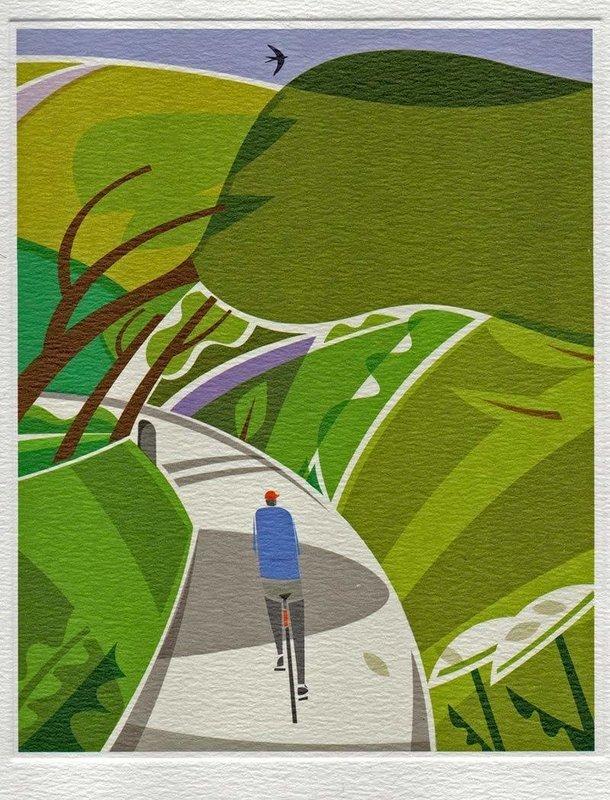 Lost Lanes - Printmakers Art Card.