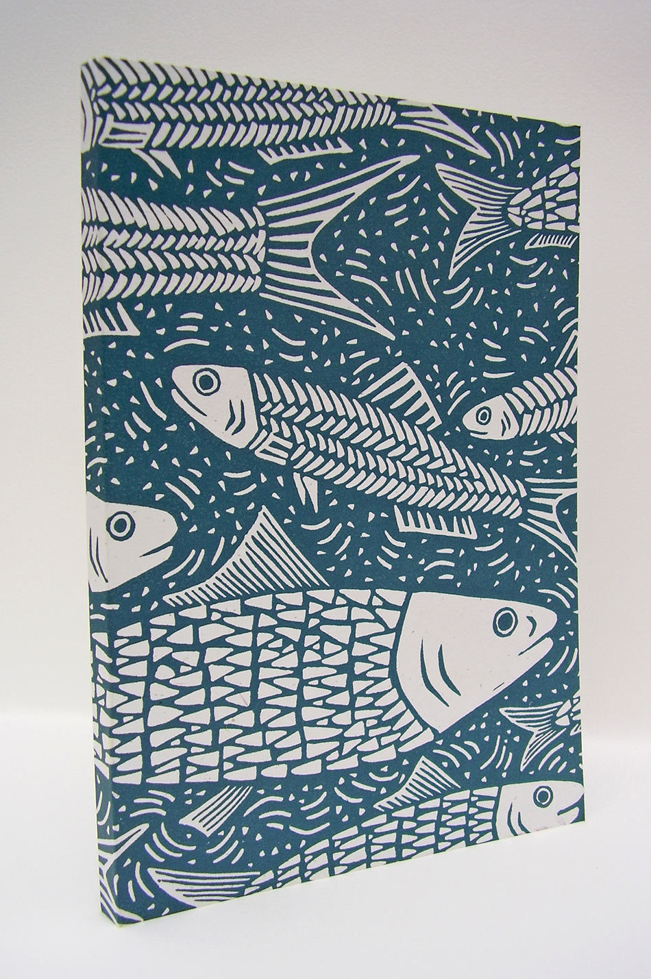 Hand-Printed Journal: Fishes