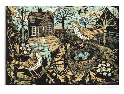 Garden Birds- Printmakers Card