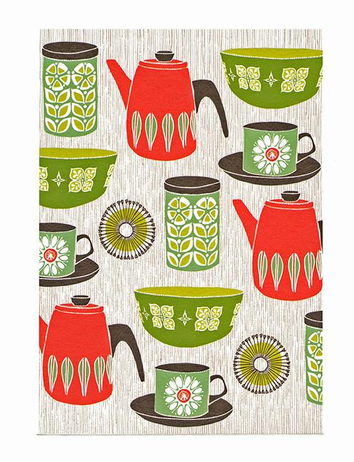 Retro Kitchen- Printmakers Card