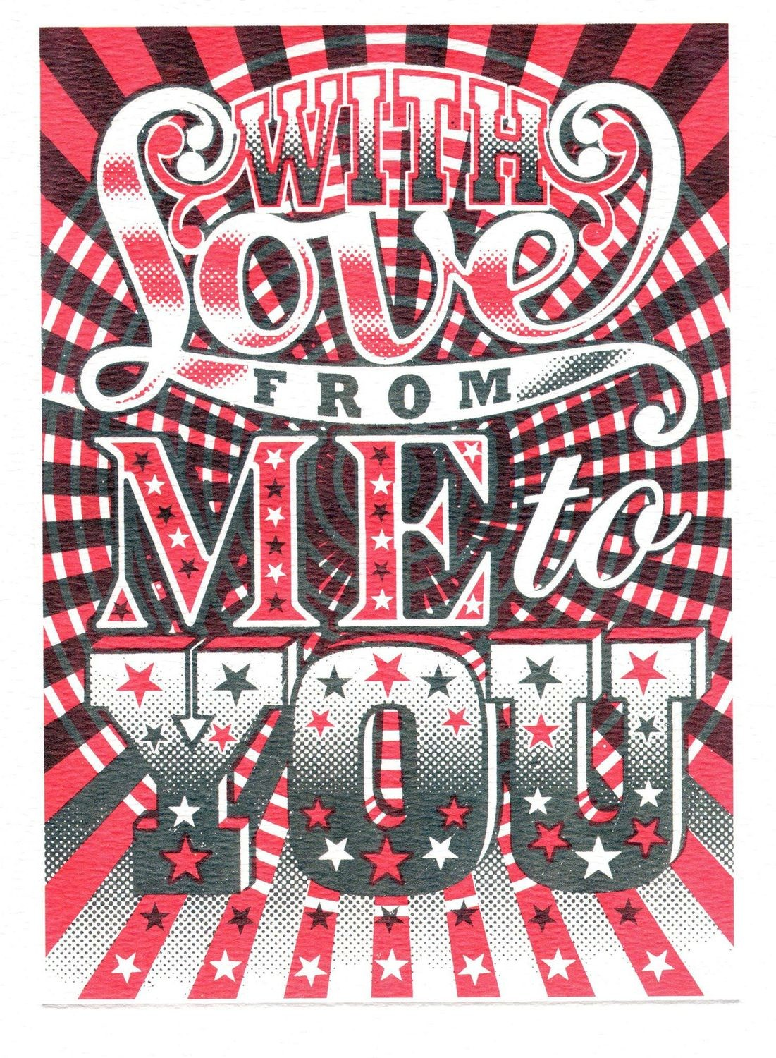 With love- Printmakers card