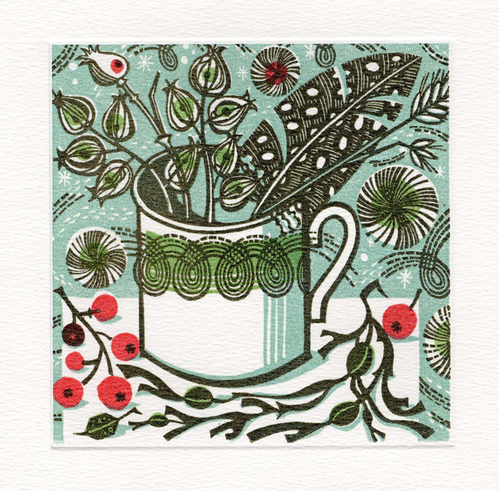 Winter Persephone- Winter Printmakers Card