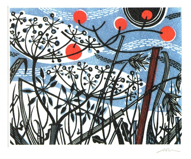 Winter Spey- Winter printmakers Card