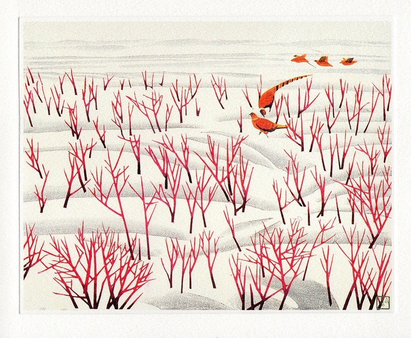 Snow Countryside 1982- Winter Printmmakers Card
