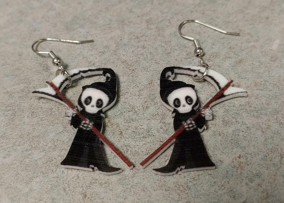 Adorable Little Reaper Acrylic Earrings