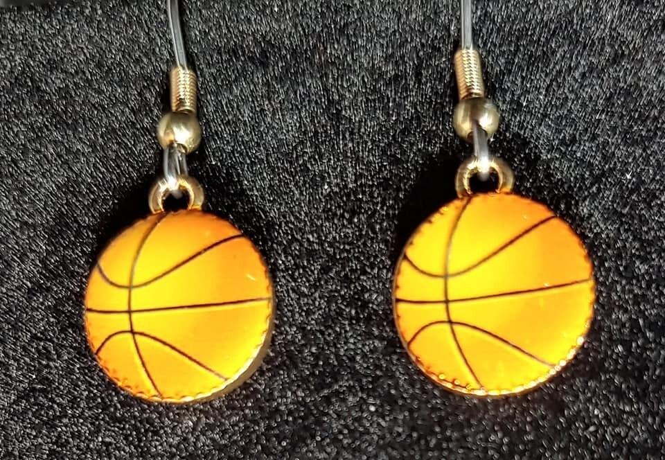 Small Basketball Earrings