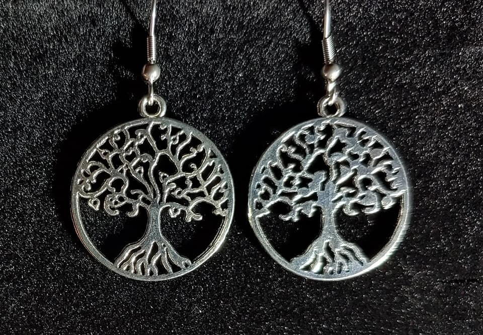 Curly Tree of Life Earrings