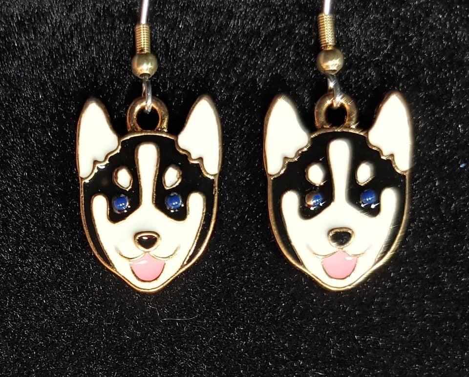 Husky Head Earrings