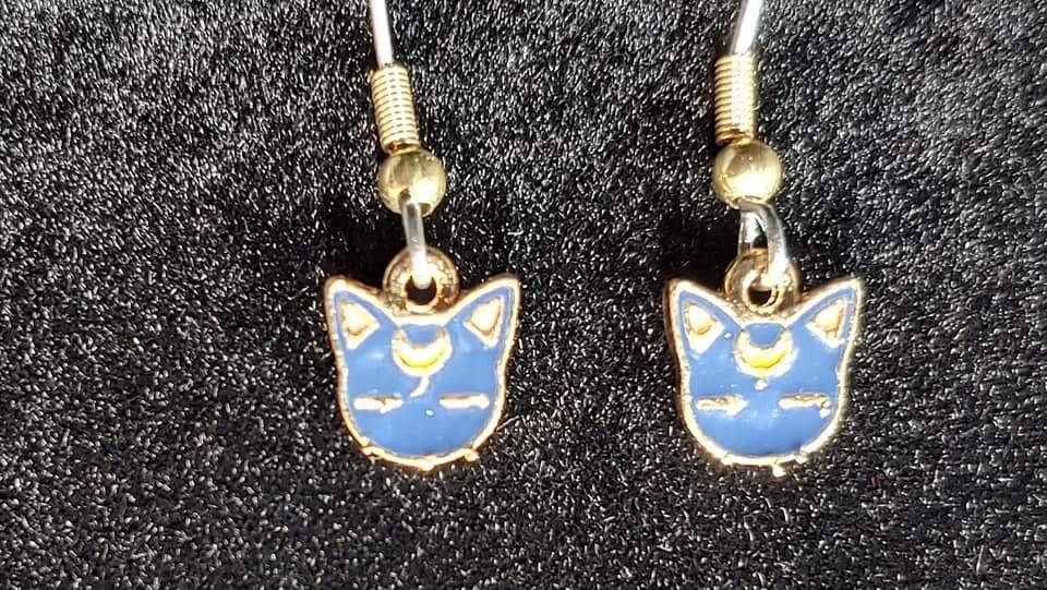 Moon Cat Earrings