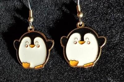 Round Penguin Earrings