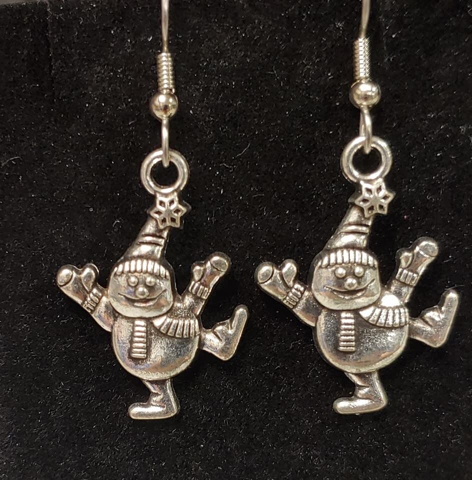 Snowman Skating Earrings