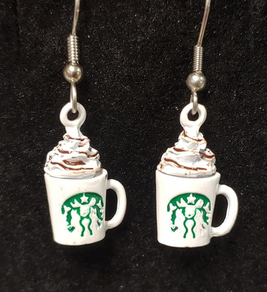 Coffee Latte Whip Earrings