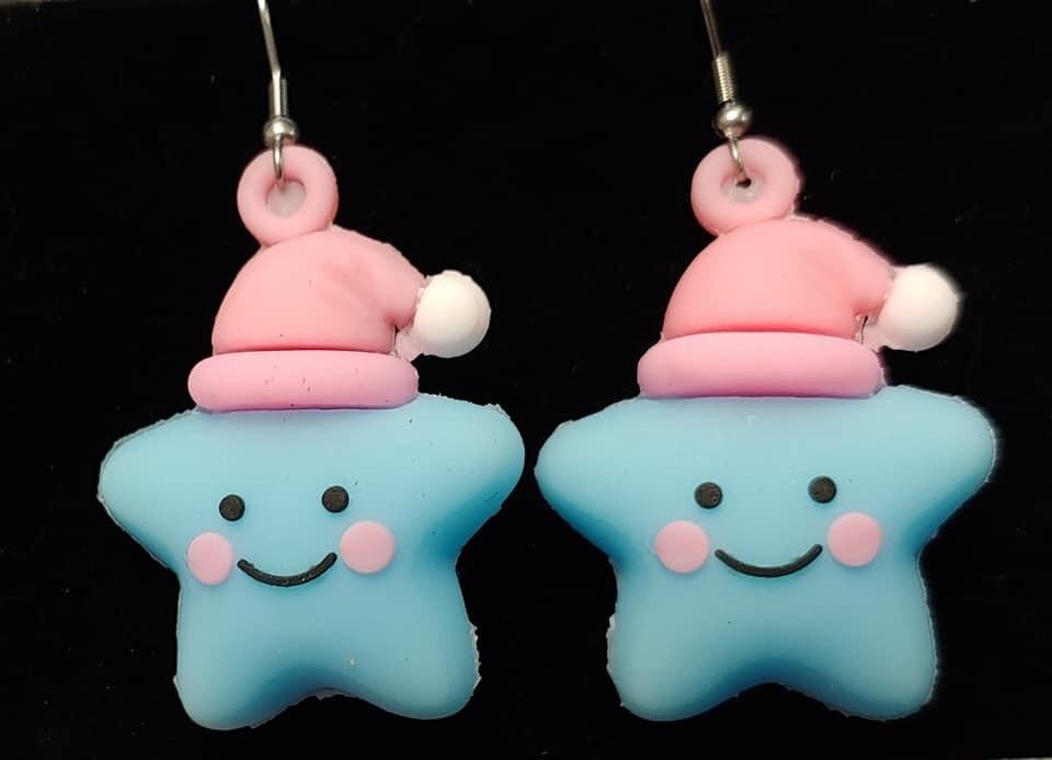 Blue Bedtime Star Earrings