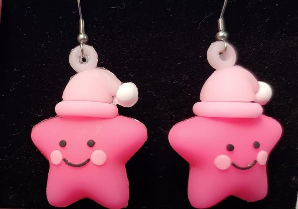 Pink Bedtime Star Earrings