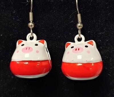 Piggy Bell Earrings