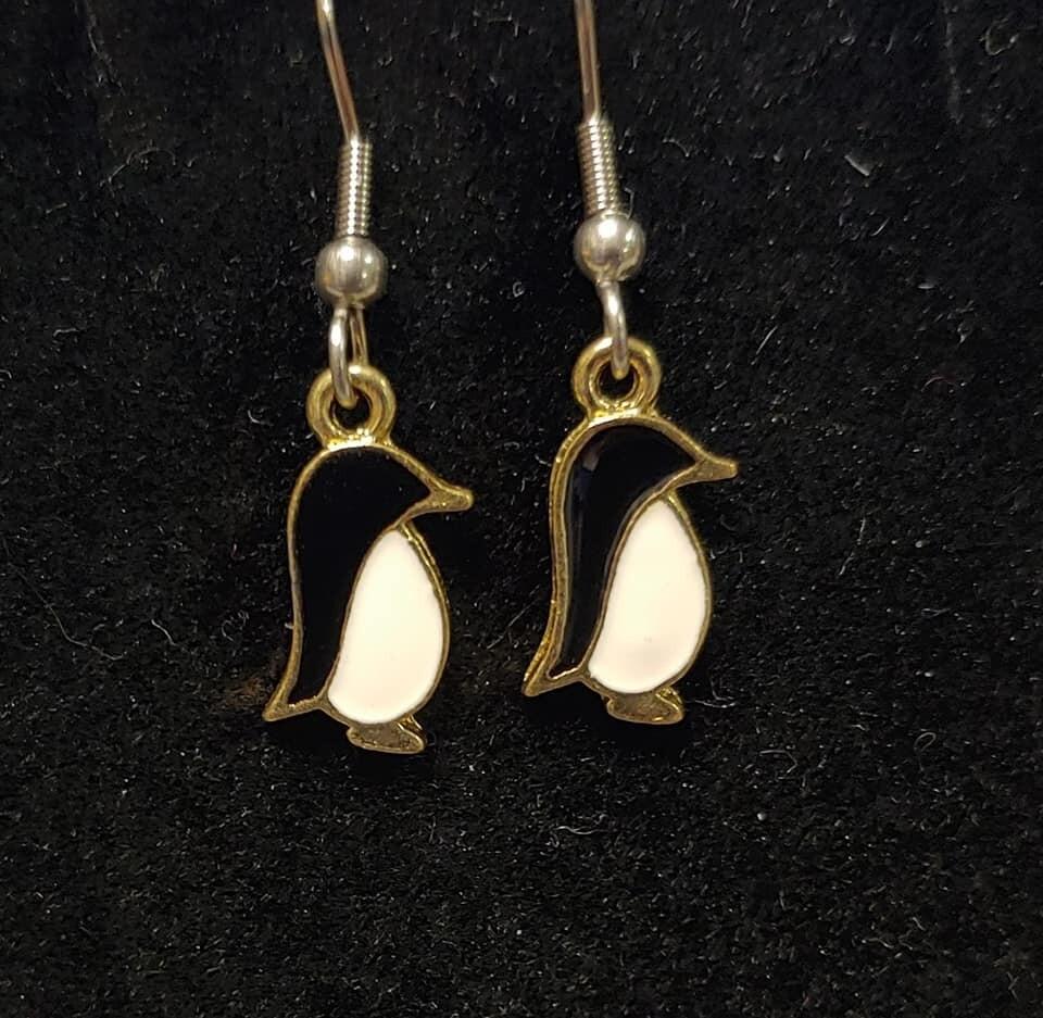 Tiny Penguin Earrings