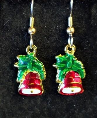 Christmas Red Bell Earrings