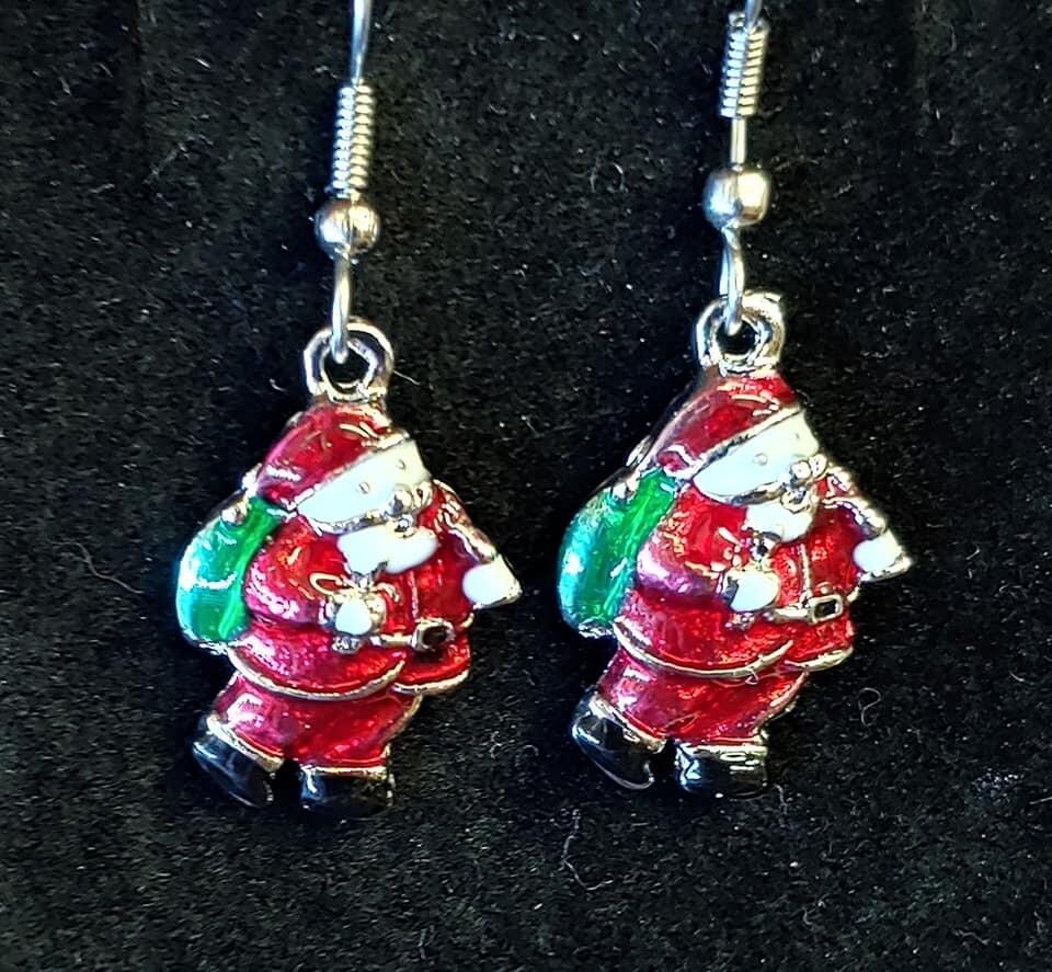 Santa in a Red Suit Earrings