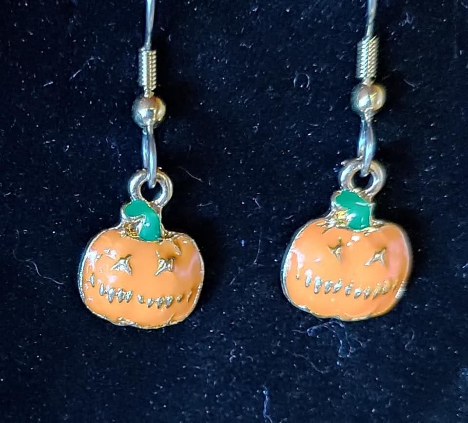 Tiny JackOLantern Earrings