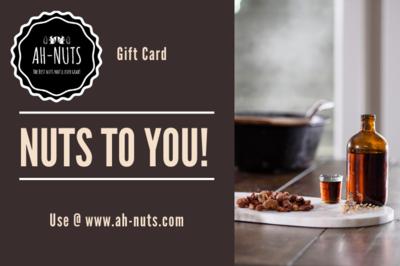 $25 - $200 Ah-Nuts Gift Card