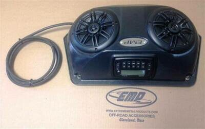 EMP Slim UTV Overhead Stereo Pods with stereo and wiring