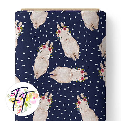 150 - Spotted Bunny Navy