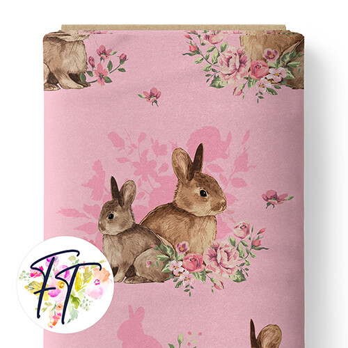 150 - Floral Bunny Pink