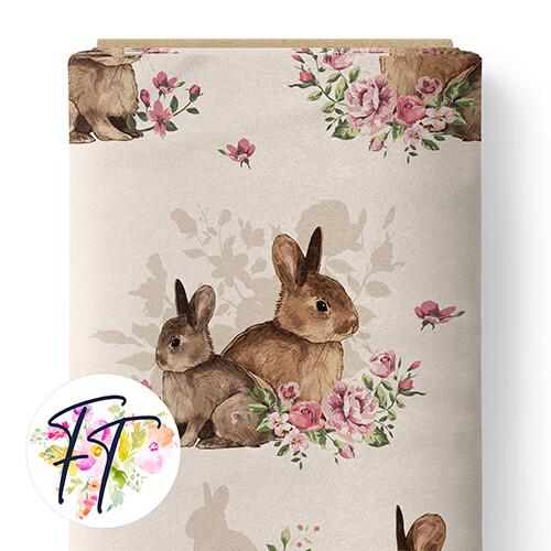 150 - Floral Bunny Cream